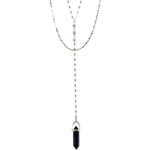 Wholesale L22E Stone pendant Y necklace GC
