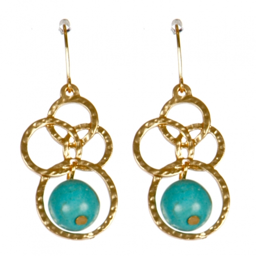 Wholesale M02E Multi hoop drop earrings G