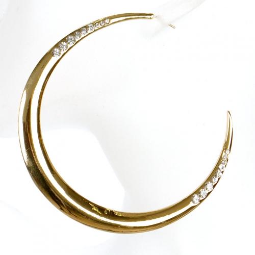 Wholesale L02A Pave crescent earrings GDCLR