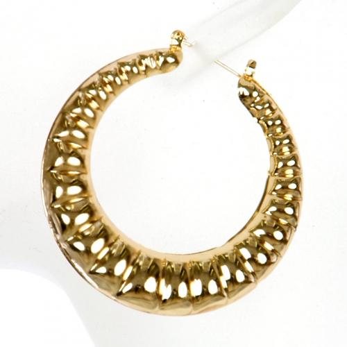 Wholesale L02A Dimpled hoop earrings GD