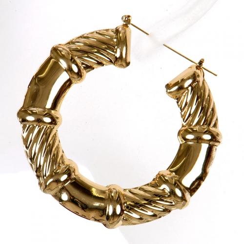 Wholesale L02A Twisted hoop earrings GD