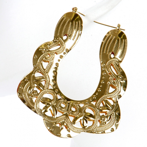 Wholesale L02A Cutout filigree drop earrings GDCLR