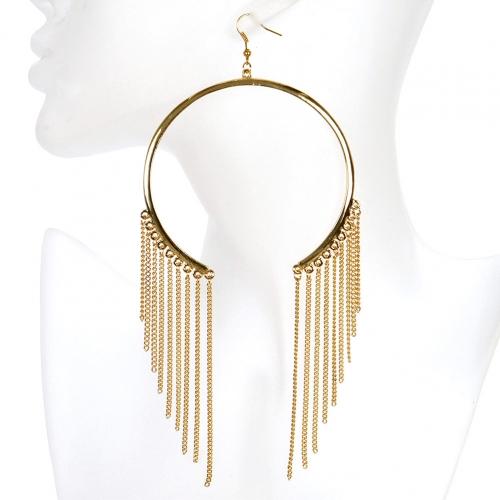 Wholesale L02A Cutout hoop earrings GD