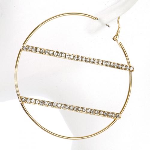 Wholesale L02A Pave bar hoop earrings GDCLR