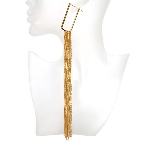 Wholesale L02A Long chain tassel drop earrings GD