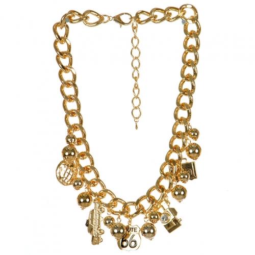 Wholesale L04A Car charm pendant necklace GD