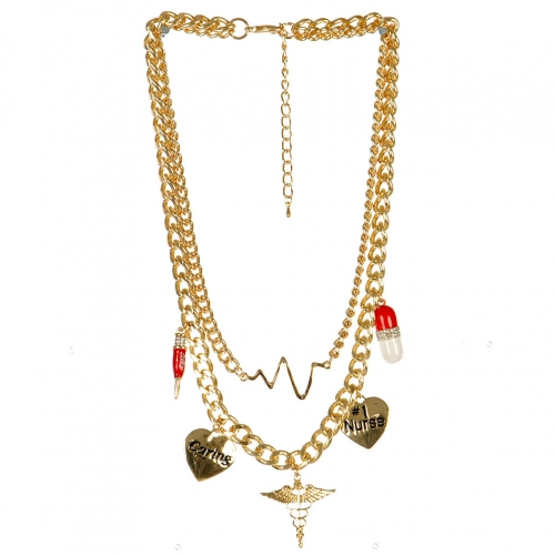 Wholesale L04A Medical charm necklace GDMLT
