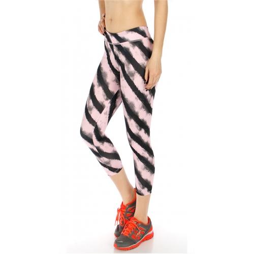 Wholesale P03 Faded stripe active leggings GRAY