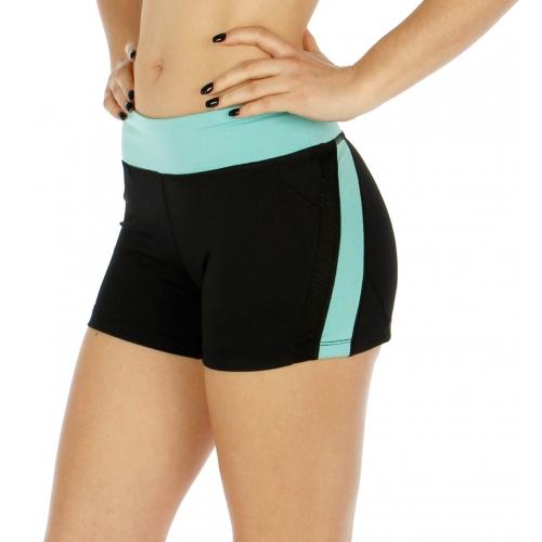 Wholesale O00 Colorblock zipped pocket active shorts Mint