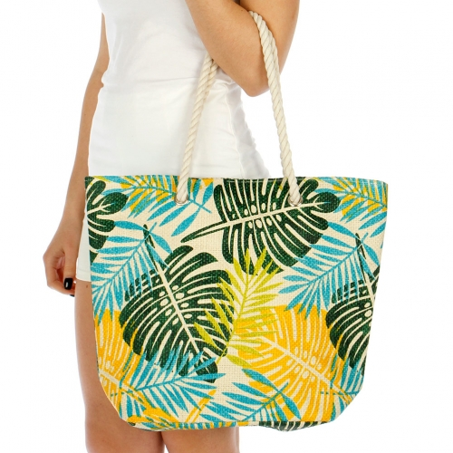Wholesale V80 Palm tree leaf beach bag CO