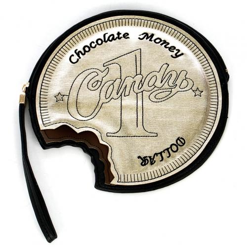 Wholesale M05D Clutch-Chocolate money
