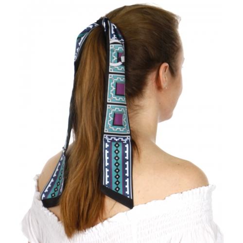 Wholesale P00C Geometric neck scarf BK