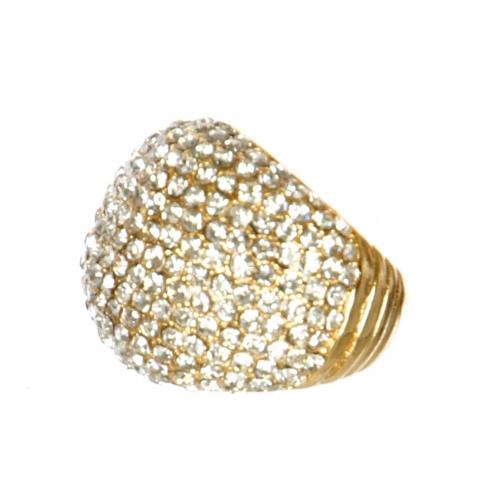 Wholesale L02C Pave dome ring GDCLR