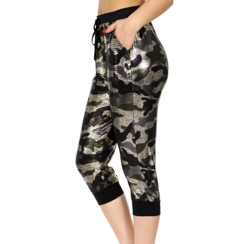 Wholesale E11A Jogger capri pants Metallic MUL