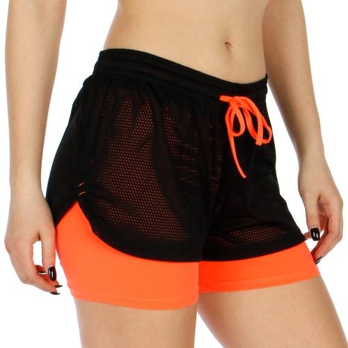 Wholesale A22 Layered mesh shorts Orange