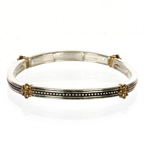 Wholesale L04C Metal flower accented bracelet TT