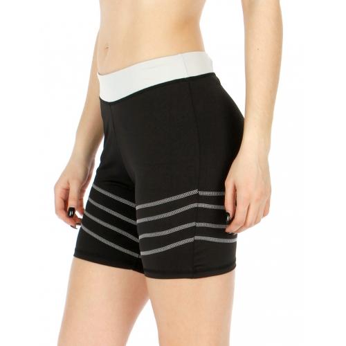 Wholesale P05 Active waist colorblock yoga shorts IV