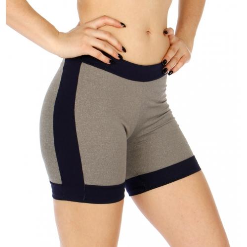 Wholesale P05 Colorblocked yoga shorts NV/GY