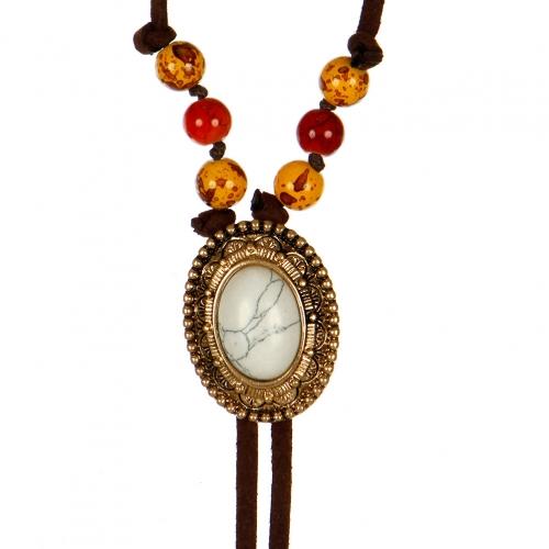 Wholesale L04D Feather bolo tie necklace WGR