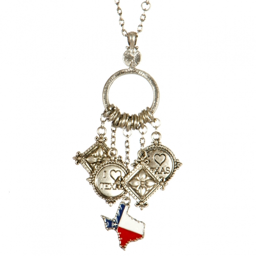 Wholesale L04E Texas state charm necklace TTMX
