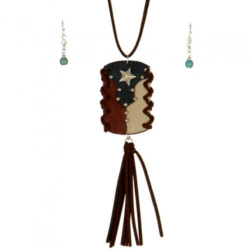 Wholesale L37B Texas map pendant necklace set WSMT