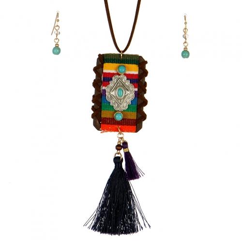 Wholesale L37B Tribal pendant necklace Set WTTMT