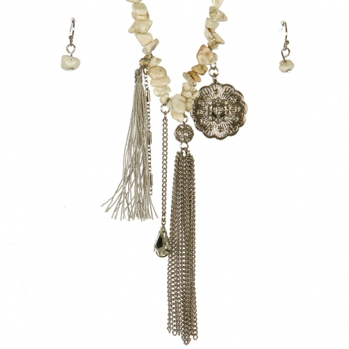Wholesale L06B Charm Tassel Necklace/ RIVGA