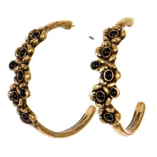 Wholesale L06D Earrings/BLACK/RUSSIA GOLD