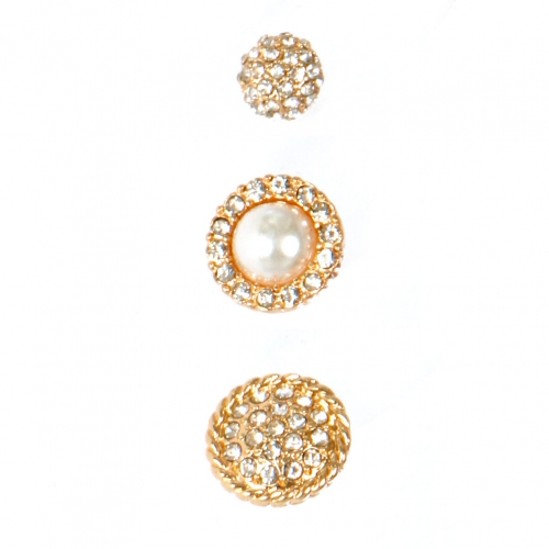 Wholesale L06E Stud Earrings/ GOLD/CLCR
