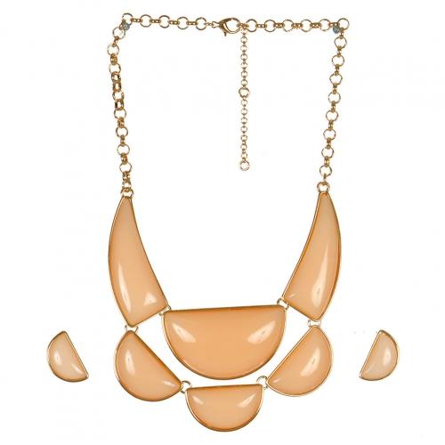 Wholesale L05C Pendant Necklace/LIGHT PEACH-GOLD