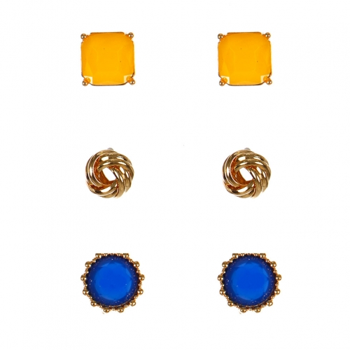 Wholesale N38E Stone Stud Earrings GYEBL