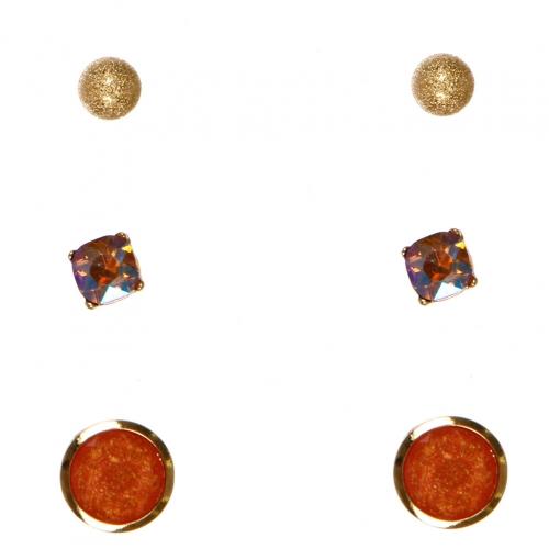 Wholesale N36E Faux Stone Set Earrings GABCO