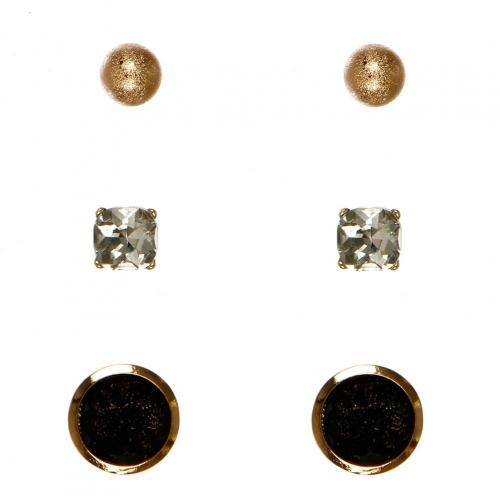 Wholesale N36E Faux Stone Set Earrings GCLBK
