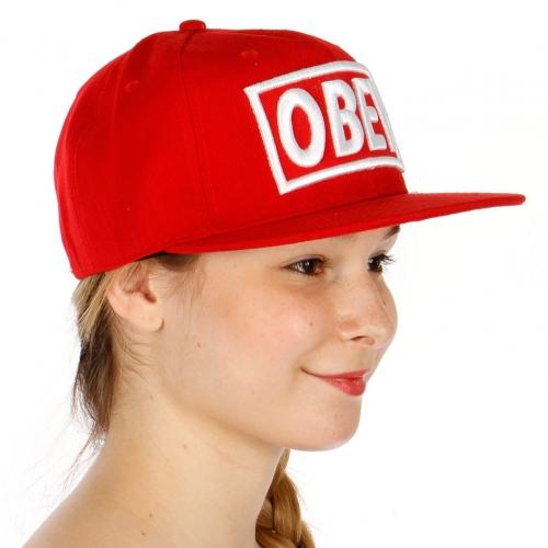 Wholesale R79B Obey Snapback Hat BKRED