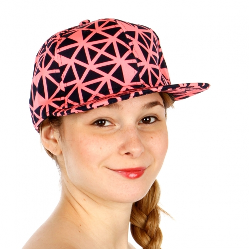 Wholesale R09C Geo Pattern Snapback Hat PNK