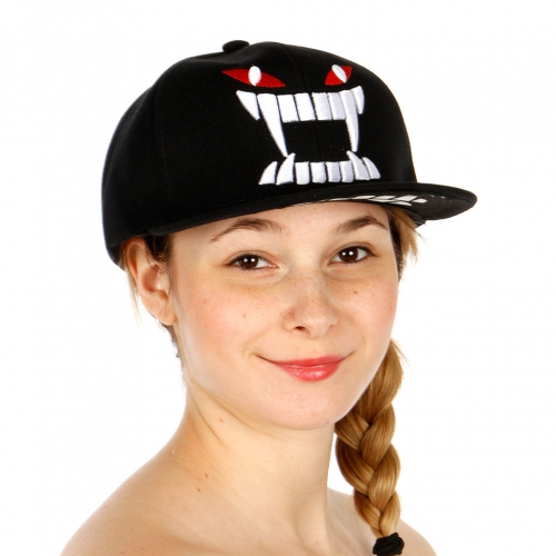 Wholesale R54A Monster Face Embroidery Hat BLK