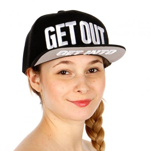 Wholesale R75E Get Out Hip Hop Hat BLK