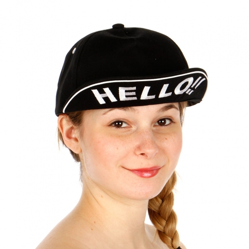 Wholesale T24D HELLO B Boy Hat BKWHT