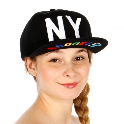 Wholesale T26C NY Brooklyn Snapback Hat BKWHT