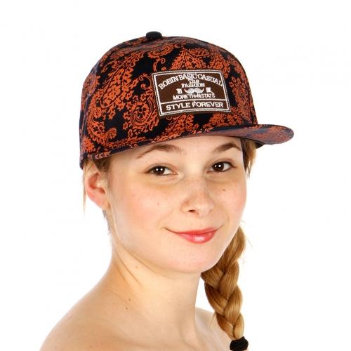 Wholesale T24D Paisley Print Snapback Hat ORG