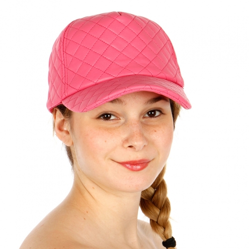 Wholesale T24C Quilted Leather Hat FSH
