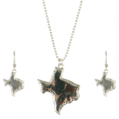 Wholesale M11A Texas State Pendant Necklace Set AS