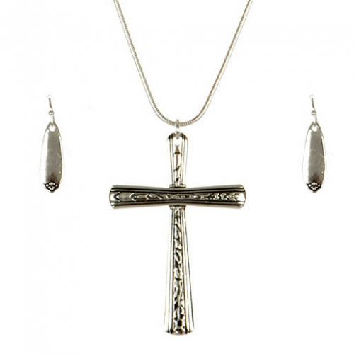 Wholesale M11A Cross Pendant Necklace Set SV