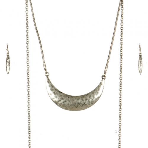 Wholesale M09C Chain Layered Necklace Set SB