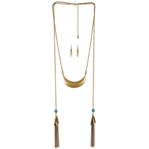 Wholesale M09C Chain Layered Necklace Set GB