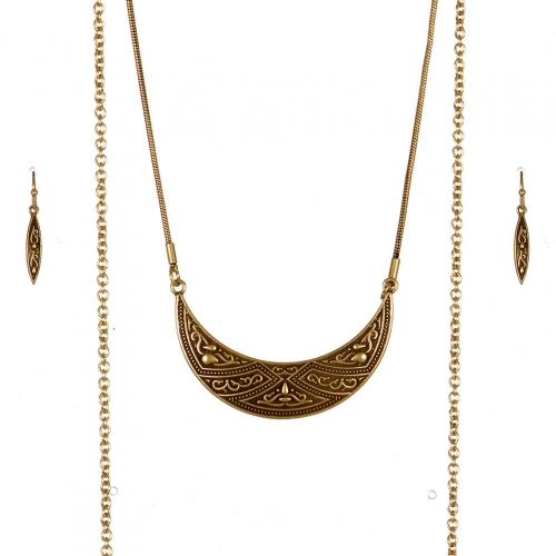 Wholesale M09B Chain Tassel Necklace Set GB