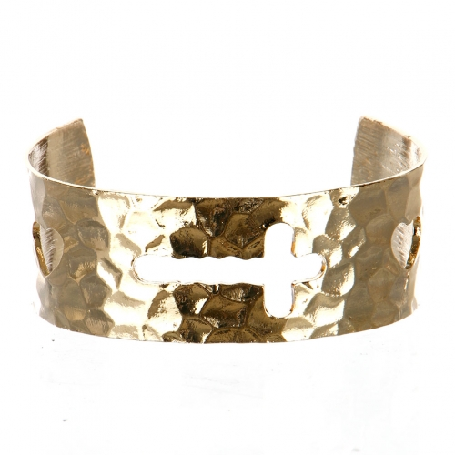 Wholesale M11C Hammered Cuff GD