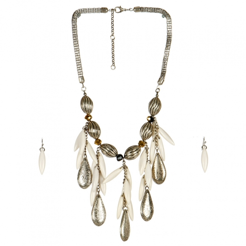 Wholesale N44C Teardrop Statement Necklace BSIV