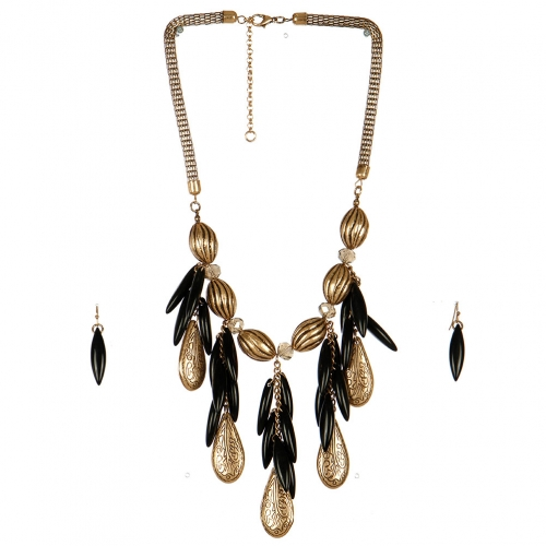 Wholesale N44C Teardrop Statement Necklace RSBK