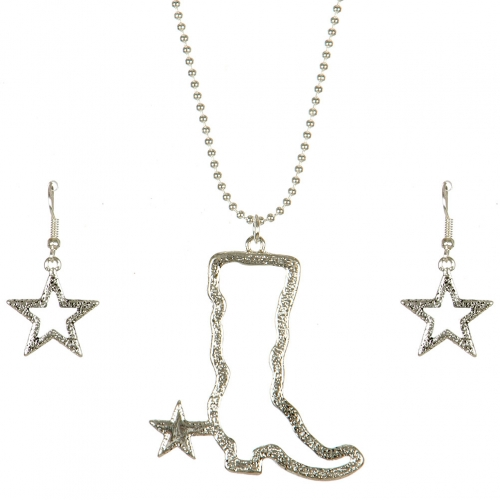 Wholesale M11B Texas Boot Star Necklace Set AS